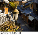 Уличный фонарь. Киото, Япония (2013 год). Стоковое фото, фотограф Игорь Чириков / Фотобанк Лори