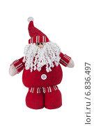 Игрушка Санта Клаус на белом фоне (2014 год). Редакционное фото, фотограф Елена Беззубцева / Фотобанк Лори