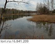 Купить «Лесное озеро ранней весной», фото № 6841209, снято 1 мая 2011 г. (c) Самойлова Екатерина / Фотобанк Лори
