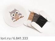 Сова, вышивка крестиком. Стоковое фото, фотограф Dmitry29 / Фотобанк Лори