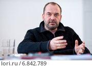 Купить «Berlin, Germany, the Polish artist Artur Zmijewski, curator of the 7th Berlin Biennale», фото № 6842789, снято 22 февраля 2012 г. (c) Caro Photoagency / Фотобанк Лори