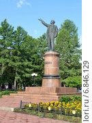Купить «Памятник В. И. Ленину в Лениногорске», фото № 6846129, снято 29 августа 2014 г. (c) александр афанасьев / Фотобанк Лори
