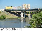 Купить «Спасские мосты через Москву-реку на МКАД», эксклюзивное фото № 6847013, снято 21 мая 2014 г. (c) Алёшина Оксана / Фотобанк Лори