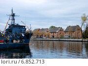 Балтийск. Вид на Русскую набережную (2010 год). Редакционное фото, фотограф Павел Бодров / Фотобанк Лори
