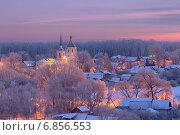 Купить «Морозное утро в Подмосковье», фото № 6856553, снято 31 декабря 2014 г. (c) Алексей Назаров / Фотобанк Лори