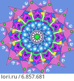 Декоративная мандала - колесо. Стоковая иллюстрация, иллюстратор Astronira / Фотобанк Лори