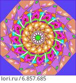 Купить «Декоративный рисунок со спиральным узором», иллюстрация № 6857685 (c) Astronira / Фотобанк Лори