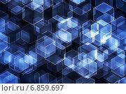 Абстрактный фон с шестиугольниками. Стоковая иллюстрация, иллюстратор Игорь Чайковский / Фотобанк Лори