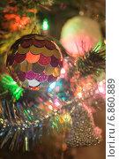 Новогодняя елка с украшениями. Стоковое фото, фотограф Владимир Вдовиченко / Фотобанк Лори