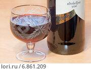 Купить «Безалкогольное вино - фокус по слову Alcoholfree на этикетке», эксклюзивное фото № 6861209, снято 30 декабря 2014 г. (c) Константин Косов / Фотобанк Лори