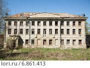 Руины старинной усадьбы, построенной в XVIII веке, в Пущино (2014 год). Стоковое фото, фотограф Андрей Шарашкин / Фотобанк Лори