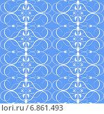 Бело-голубой бесшовный узор. Стоковая иллюстрация, иллюстратор Сергей Старкин / Фотобанк Лори