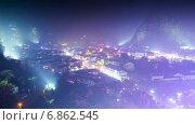 Купить «Город в Китае днем и ночью, таймлапс», видеоролик № 6862545, снято 4 августа 2014 г. (c) Кирилл Трифонов / Фотобанк Лори