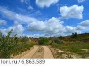 Летний пейзаж, карьер. Стоковое фото, фотограф Юлия Москаленко / Фотобанк Лори
