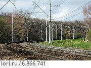 Купить «Пятигорск, железная дорога в черте города», фото № 6866741, снято 14 апреля 2013 г. (c) Валерий Шилов / Фотобанк Лори