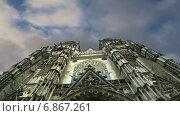 Готический собор Святого Гатьена, Франция (2015 год). Стоковое видео, видеограф Владимир Журавлев / Фотобанк Лори