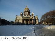 Исаакиевский собор зимой. Санкт-Петербург (2015 год). Стоковое фото, фотограф Геннадий Машанин / Фотобанк Лори