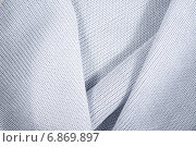 Белая вязаная ткань. Стоковое фото, фотограф Андрей Семин / Фотобанк Лори