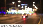 Купить «Дорожное движение в ночном городе», видеоролик № 6872825, снято 16 декабря 2014 г. (c) Анатолий Типляшин / Фотобанк Лори