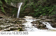 Купить «Водопады Руфабго», видеоролик № 6873065, снято 24 ноября 2014 г. (c) Анатолий Типляшин / Фотобанк Лори