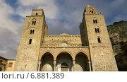 Собор-Базилика Чефалу, Римско-католическая церковь в Чефалу, Сицилия, юг Италии (2015 год). Стоковое видео, видеограф Владимир Журавлев / Фотобанк Лори