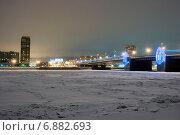 Купить «Володарский мост. Санкт-Петербург», эксклюзивное фото № 6882693, снято 8 января 2015 г. (c) Александр Щепин / Фотобанк Лори