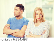 Купить «unhappy couple having argument at home», фото № 6884497, снято 9 февраля 2014 г. (c) Syda Productions / Фотобанк Лори