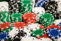 close up of casino chips background, фото № 6885193, снято 17 октября 2014 г. (c) Syda Productions / Фотобанк Лори