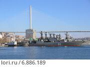 Купить «Противолодочный корабль «Маршал Шапошников» в порту Владивостока», фото № 6886189, снято 6 января 2015 г. (c) Овчинникова Ирина / Фотобанк Лори