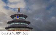 Храм Неба в Пекине, Китай (2015 год). Стоковое видео, видеограф Владимир Журавлев / Фотобанк Лори