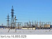 Подстанция электросетей. Стоковое фото, фотограф Валерий Подобный / Фотобанк Лори