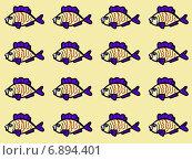 Купить «Бесшовный узор с рыбками», иллюстрация № 6894401 (c) Astronira / Фотобанк Лори