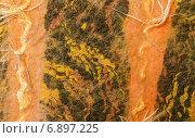 Купить «Разноцветный фактурный войлок с торчащими наружу  нитками», фото № 6897225, снято 13 января 2015 г. (c) Marina Kutukova / Фотобанк Лори