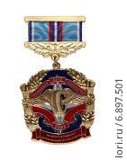 Купить «Медаль Российского автотранспортного Союза», фото № 6897501, снято 6 января 2015 г. (c) Марина Орлова / Фотобанк Лори