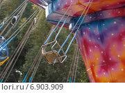 Купить «Кресло карусели в парке», фото № 6903909, снято 27 сентября 2014 г. (c) Йомка / Фотобанк Лори