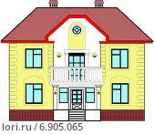 Дом с балконом. Стоковая иллюстрация, иллюстратор Dmitry Polnikov / Фотобанк Лори