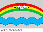 Купить «Флаг города Заволжска Ивановской области», иллюстрация № 6905829 (c) Владимир Макеев / Фотобанк Лори