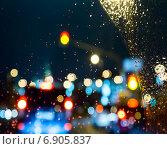 Капли воды на стекле. Стоковое фото, фотограф Максим Блинков / Фотобанк Лори