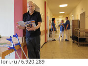 Купить «Flensburg, Germany, tilt table testing in the hospital», фото № 6920289, снято 6 марта 2014 г. (c) Caro Photoagency / Фотобанк Лори
