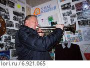 Купить «Звуки горна в исполнении губернатора Калининградской области Николая Цуканова», фото № 6921065, снято 28 января 2012 г. (c) Smolin Ruslan / Фотобанк Лори