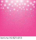 Купить «Абстрактный сияющий розовый фон с мерцанием», иллюстрация № 6921613 (c) Евгения Малахова / Фотобанк Лори