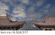 Купить «Крыши большой пагоды диких гусей, провинция Шэньси, Китай», видеоролик № 6924517, снято 23 января 2015 г. (c) Владимир Журавлев / Фотобанк Лори