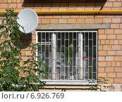 Купить «Фрагмент пятиэтажного кирпичного дома на Камчатской улице в Голяново в Москве», эксклюзивное фото № 6926769, снято 16 сентября 2009 г. (c) lana1501 / Фотобанк Лори