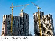 Строительство жилых домов в Москве (2015 год). Редакционное фото, фотограф E. O. / Фотобанк Лори