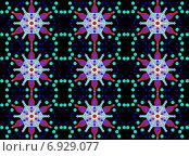 Купить «Бесшовный геометрический узор с декоративными цветами», иллюстрация № 6929077 (c) Astronira / Фотобанк Лори