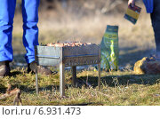Шашлыки на мангале. Стоковое фото, фотограф Ивашков Александр / Фотобанк Лори