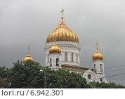 Купить «Кафедральный соборный храм Христа Спасителя», фото № 6942301, снято 20 июля 2013 г. (c) Алексей Ларионов / Фотобанк Лори