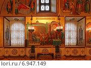 Купить «Внутреннее убранство Грановитой палаты, Московский Кремль», эксклюзивное фото № 6947149, снято 29 января 2015 г. (c) Алексей Гусев / Фотобанк Лори