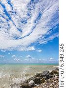 Купить «Красивые облака над морем. Черноморское побережье Кавказа», фото № 6949245, снято 1 сентября 2013 г. (c) Владимир Сергеев / Фотобанк Лори