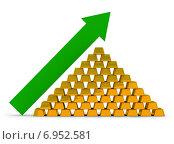 Купить «Рост цены на золото», иллюстрация № 6952581 (c) Anatoly Maslennikov / Фотобанк Лори